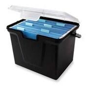Innovative Storage Design File Box- 10-.50in.x14-.75in.x10-.75in.- Black w- Clear Lid (SPRCH16880)