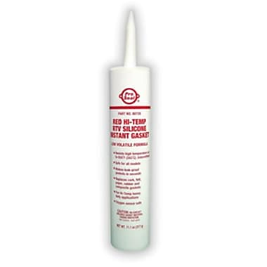 Super Glue Corp. Red Hi-Temp RTV Silicone Instant Gasket- Pack of 12 (SUPGLUE130)
