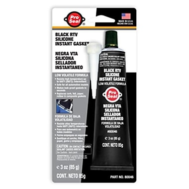 Super Glue Corp. Black RTV Silicone Instant Gasket- Pack of 12 (SUPGLUE117)