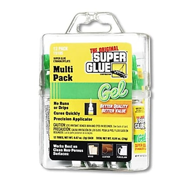 Super Glue Corp. Super Glue GEL Multi Pack- Pack of 12 (SUPGLUE114)