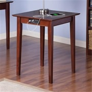 Atlantic Furniture Shaker Printer Stand With Charger, Antique Walnut (ATLFR945)