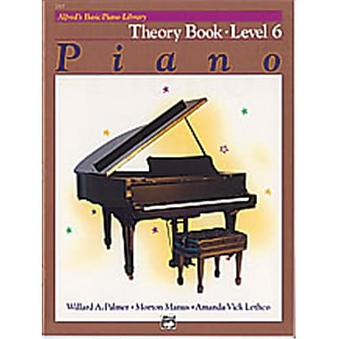 Alfred Basic Piano Course- Theory Book 6 - Music Book (ALFRD40741)