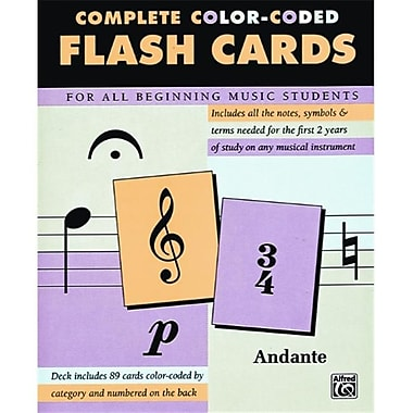 Alfred 89 Color-Coded Flash Cards - Music Book (ALFRD41932)