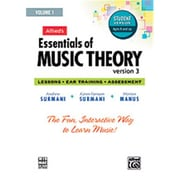Alfred Essentials of Music Theory- Software- Version 3 CD-ROM Student Version- Volume 1 - Music Book (ALFRD48658)