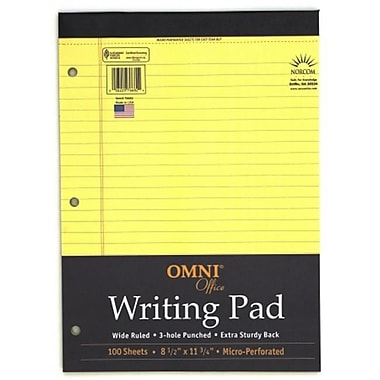 Norcom Inc 8.5 in. X 11.75 in. Canary Legal Pad 100 Pages (JNSN72174)