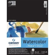 Canson 9 in. x 12 in. Watercolor Cold Press Sheet Pad 140lb-300g (ALV29094)