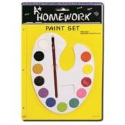 Bulk Buys Water Color Paint Set - 12 asst.colors plus brush - Case of 48 (DLRDY236427)