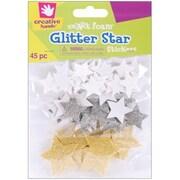 Fibre Craft Foam Glitter Stickers 45/Pkg (NMG6284)