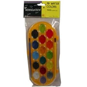 Bulk Buys Water Color Paint Set - 16 assorted - with brush. - Case of 48 (DLRDY236432)