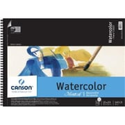 Canson 15 in. x 20 in. Cold Press Wire Bound Watercolor Pad 140lb-300g (ALV32683)