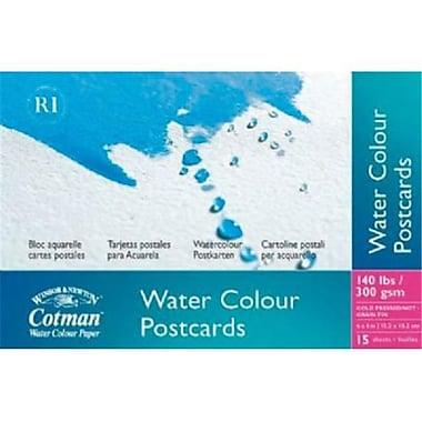 ColArt 4 in. x 6 in. Watercolor Cold Press Paper Postcard Pad (ALV29092)