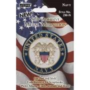Pioneer Photo Albums Self-Adhesive Metal Military Medallion Navy (ALV23401)