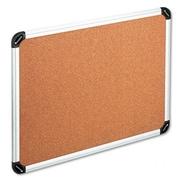 Universal Bulletin Board Natural Cork 36 x 24 Aluminum Frame (AZRUNV43713)