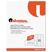 Universal Laser Printer Permanent Labels 2-5/8 x 1 Clear 1500 per Pack (AZRUNV81102)