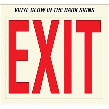 Hy-ko 10 in. X 12 in. Vinyl Glow In The Dark Exit Sign - Pack of 10 (JNSN58665)