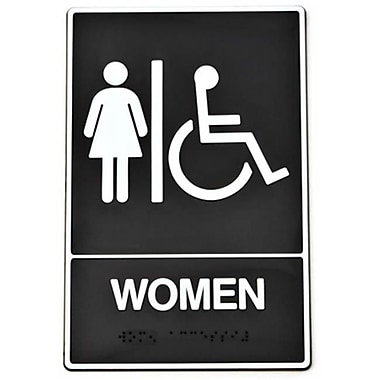 Hy-ko Braille Women Handicap Access Sign - Pack of 3 (JNSN59034)