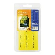 Bazic Yellow Price Mark Label 180-Pack- Pack of 24( BAZC466)