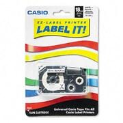 Casio Label Printer Iron-On Transfer Tape 18mm Black on White( AZRCSOXR118BKS)
