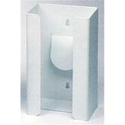 RackEm Racks 1-Box Vertical Plastic Glove Dispenser - White Heavy- Duty Plastic (HRZM111)