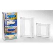 RackEm Racks 2-Box Vertical Stacking Glove Dispensers - Clear Plastic (HRZM112)