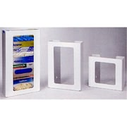 RackEm Racks 4-Box Vertical Plastic Box Glove Dispenser - White Heavy- Duty Plastic (HRZM117)