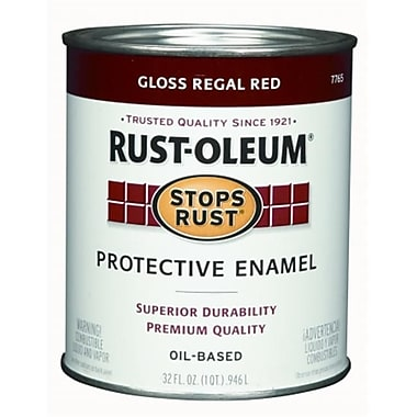 Rustoleum 1 Quart Regal Red Gloss Stops Rust Protective Enamel (JNSN27229)