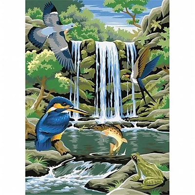 Reeves Paint By Number Kit 9 in. X12 in. -Waterfall (NMG87928) 2598112