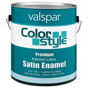 Valspar Brand 1 Gallon White ColorStyle Interior Latex Satin Enamel Wall Paint - Pack of 4 (JNSN46538)