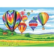 Reeves 354924 Paint By Number Kit 12 in. x 15.5 in. -Hot Air Balloons (NMG67683)