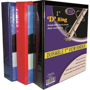 DDI D Ring Binder - 1 in. - Assorted Colors Case Of 48 (DLRDY259105)