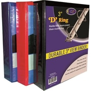 DDI Binder - D Ring - 3 in. - Assorted Colors Case Of 8( DLRDY270280)