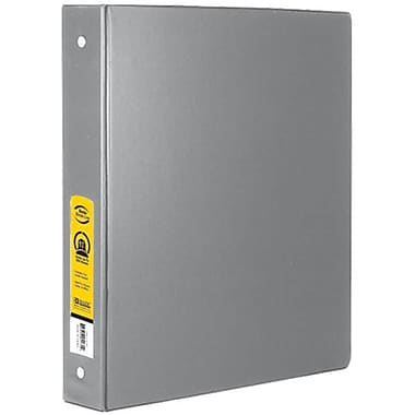Bazic Products 1 in. Grey 3-Ring Binder with 2-Pockets - Pack of 12 (BAZC1698)