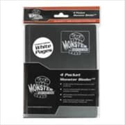 Monster Binders 4PBWT Binder 4 Pocket Monster - Matte Black & White Pages (ACDD7136)