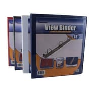 DDI Binder - View front pocket - 3-1.5 in. Rings Asst.Col Case Of 24 (DLRDY259569)