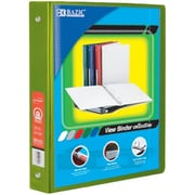 Bazic Products 1 in. Lime Green 3-Ring View Binder with 2-Pockets - Pack of 12 (BAZC1706)