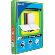 Bazic Products .5 in. Lime Green 3-Ring View Binder with 2-Pockets - Pack of 12 (BAZC1693)