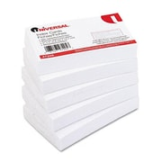 Universal Unruled Index Cards 3 x 5 White 100 per Pack (AZRUNV47205)