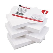 Universal Ruled Index Cards 3 x 5 White 500 per Pack (AZRUNV47215)