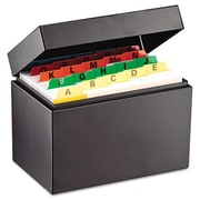 Mmf Index Card File Holds 400 4 x 6 cards 6 3/4 x 4 1/5 x 5 (AZMMF263644BLA)