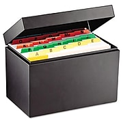 Index Card File Holds 500 5 x 8 cards, 8 3/4 x 5 1/8 x 6