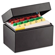 Mmf Index Card File Holds 300 3 x 5 cards 5 3/4 x 3 5/8 x 4 (AZMMF263534BLA)