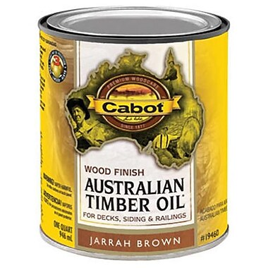 Cabot Samuel 19460-05 Australian Timber Oil, QT, Jarrah Brown, Wood Finish (TRVAL8395)