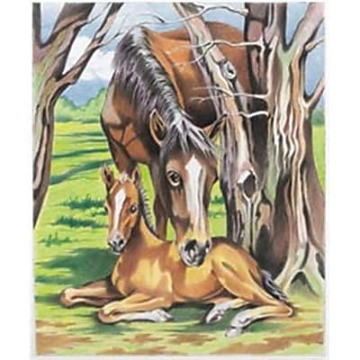 Reeves 446581 Color By Number Kit 9 in. x 12 in. -Horse & Foal (NMG68049) 2598101