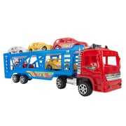 BlueBlockFactory Big Rig Truck Carrier and Race Car Set Red 4 to 10 years old