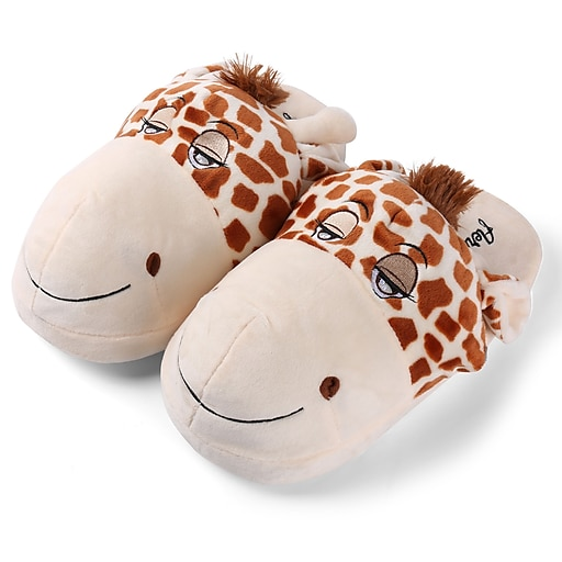 Aerusi Plush Animal Kid Slipper Size 1 to 3 Giraffe