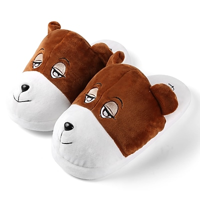 Aerusi Plush Animal Kid Slipper Size 1 to 3 Bear