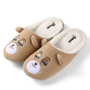 Aerusi Women Home Spa Plush Slipper Teddy Brown Bear Size 7 - 8