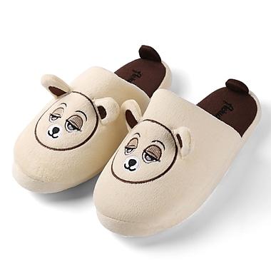 Aerusi Women Home Spa Plush Slipper Biege Teddy Bear Size 11 - 12
