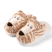 Aerusi Women Home Spa Plush Slipper Tiger One Size Fits All