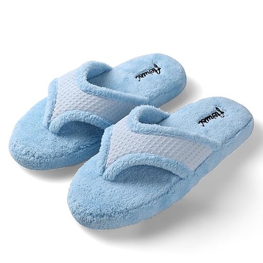 Aerusi Woman Relax Spa Slipper Home Blue Size 7 - 8